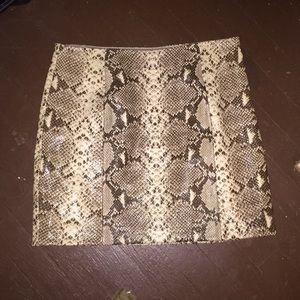 Michael Kors python skirt